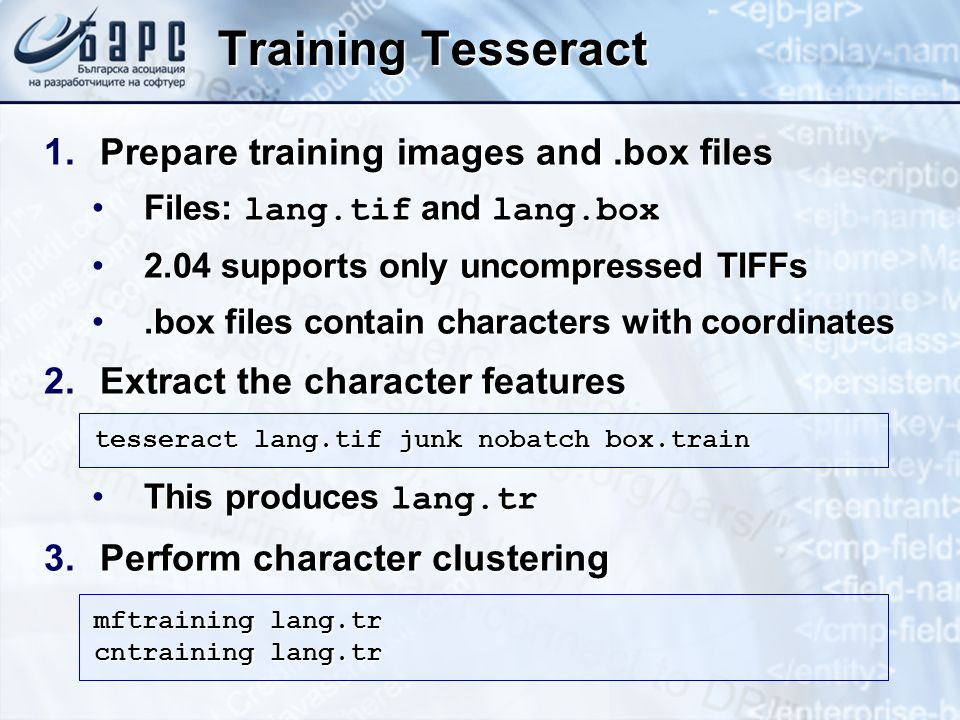 Training Tesseract Prepare training images and .box files
