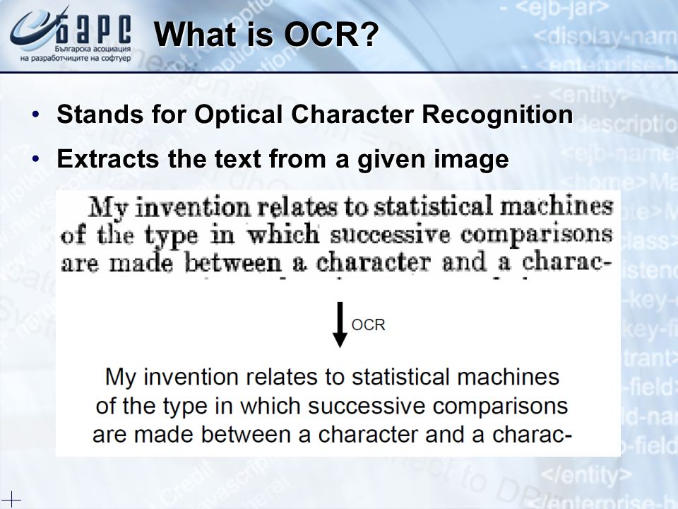 What is OCR Stands for Optical Character Recognition