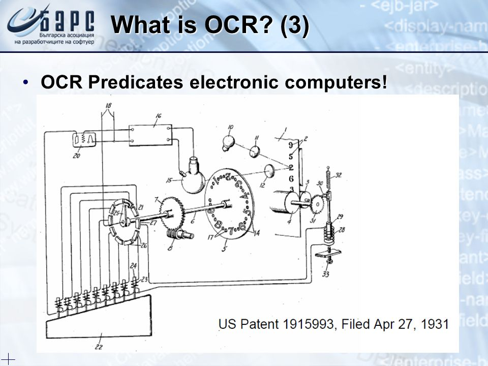 What is OCR (3) OCR Predicates electronic computers!