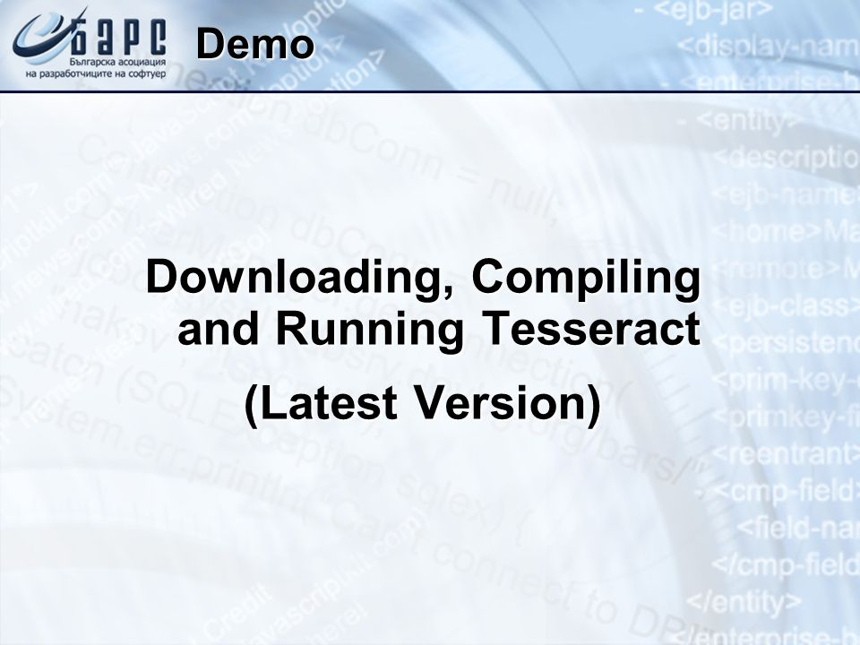 Downloading, Compiling and Running Tesseract