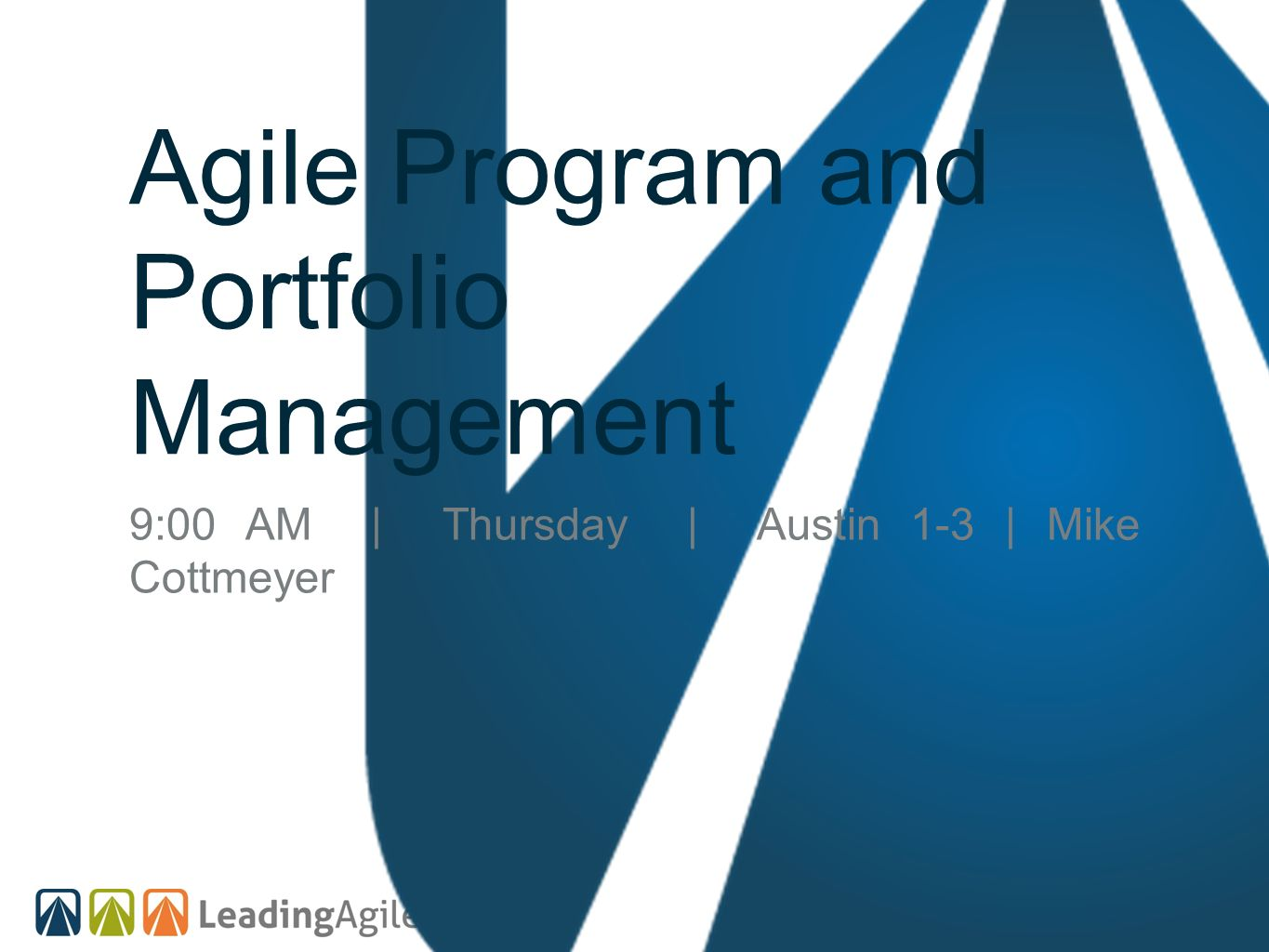 Agile Program and Portfolio Management