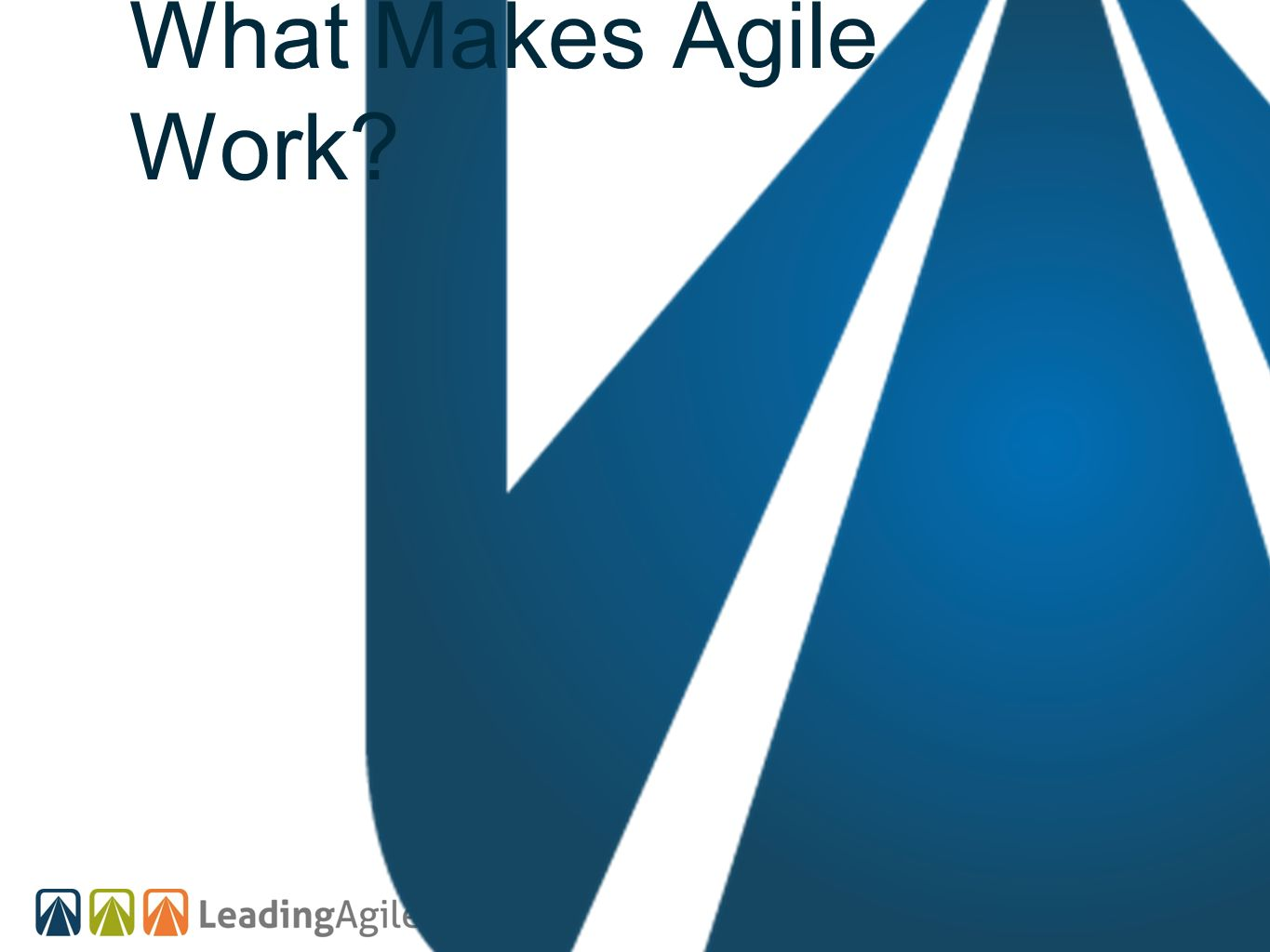 What Makes Agile Work
