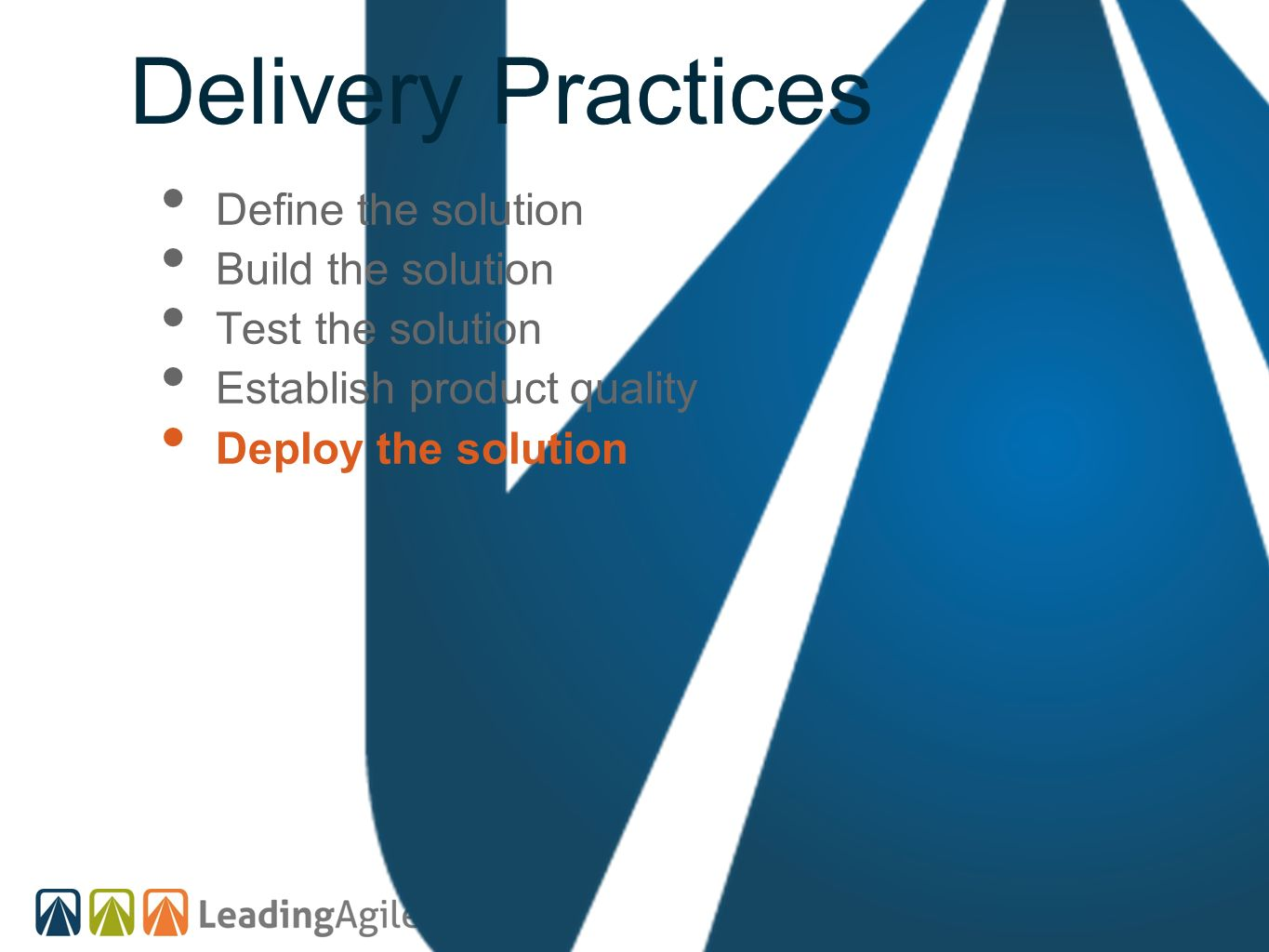 Delivery Practices Define the solution Build the solution