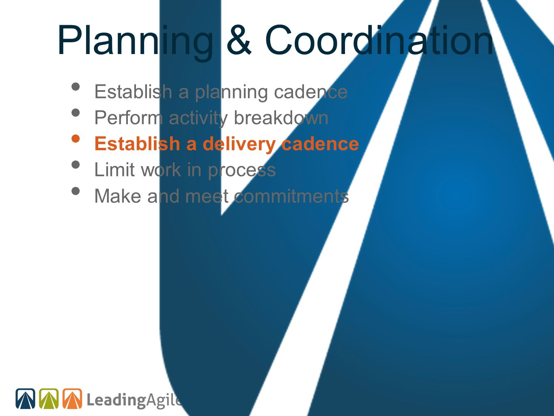 Planning & Coordination