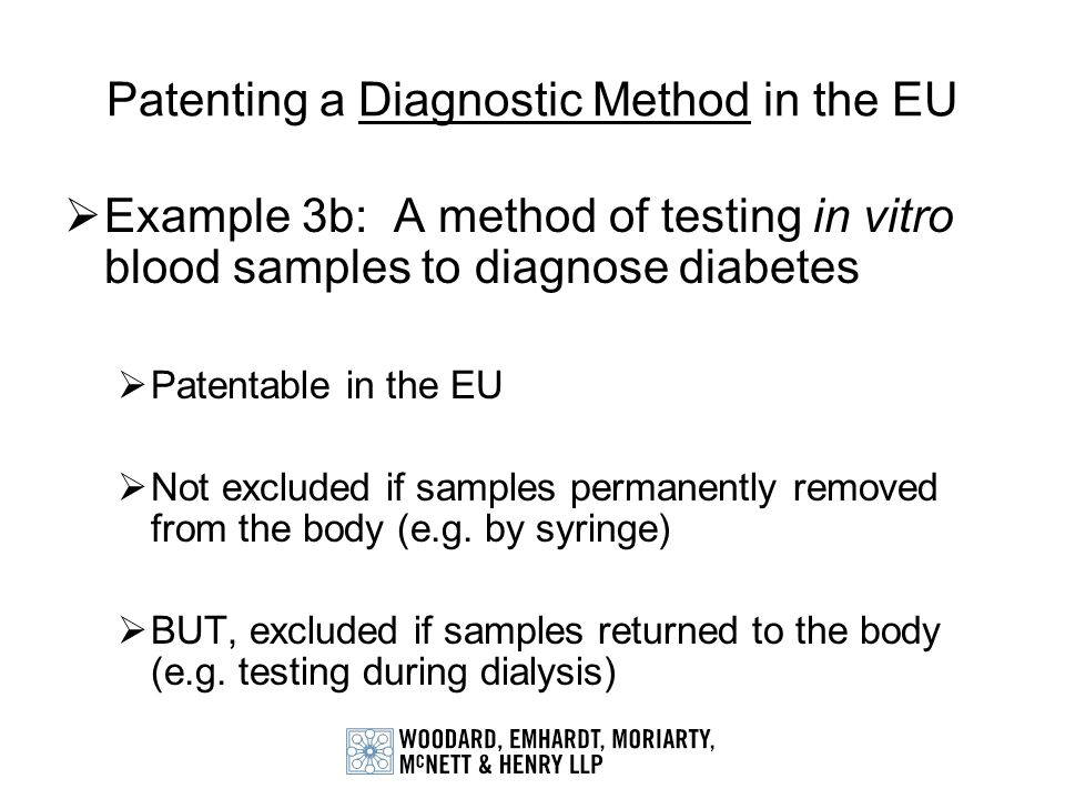 Patenting a Diagnostic Method in the EU