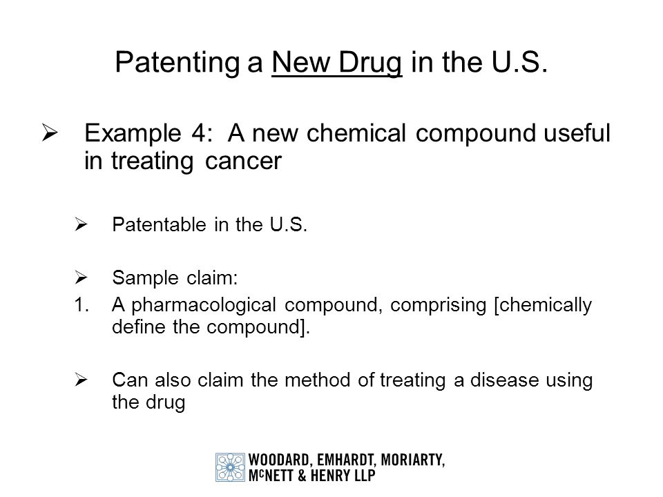 Patenting a New Drug in the U.S.