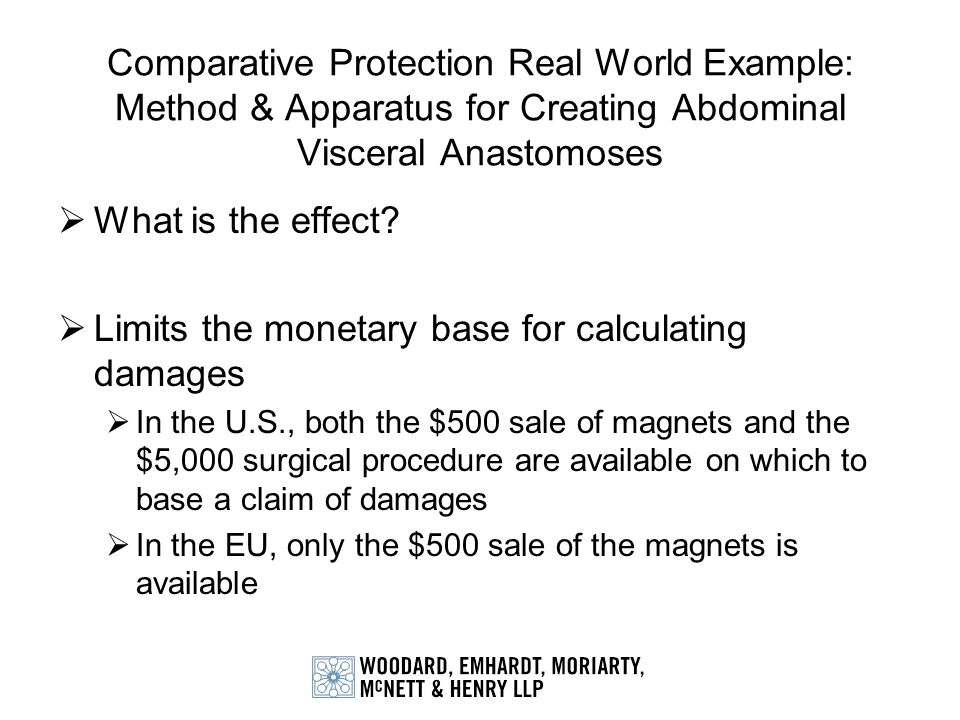 Limits the monetary base for calculating damages