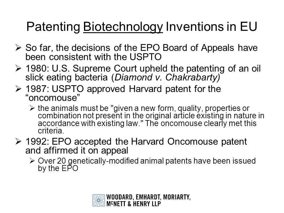 Patenting Biotechnology Inventions in EU