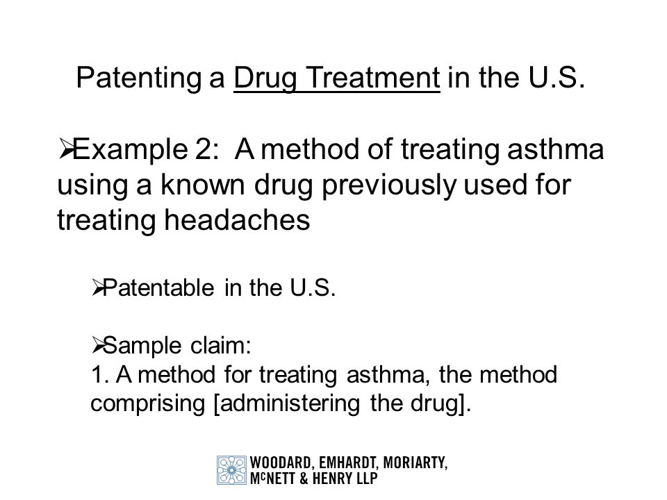 Patenting a Drug Treatment in the U.S.