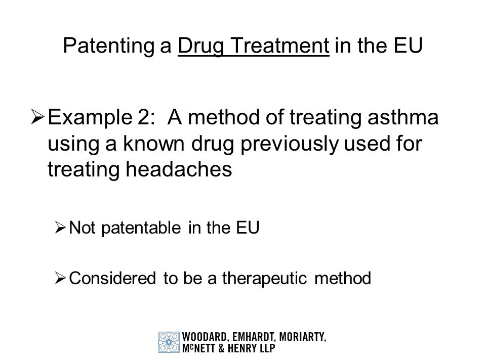 Patenting a Drug Treatment in the EU