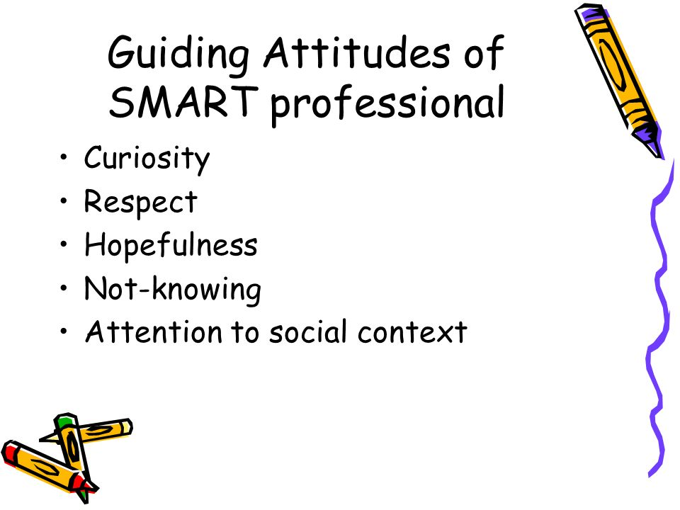 Guiding Attitudes of SMART professional