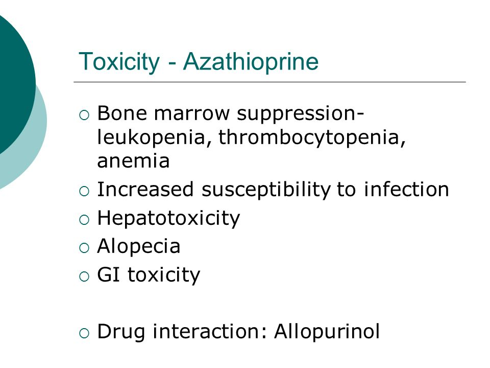 Toxicity - Azathioprine