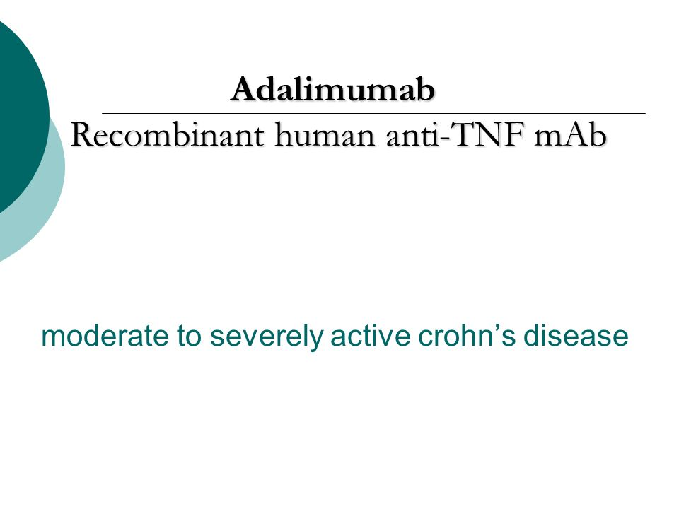 moderate to severely active crohn's disease