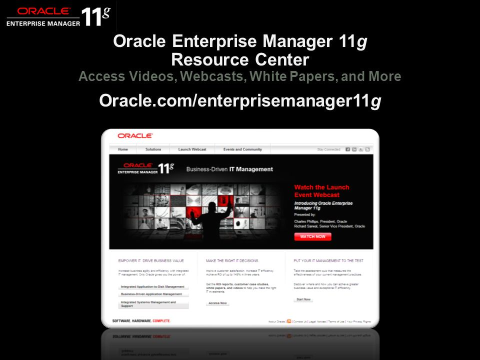 Oracle.com/enterprisemanager11g