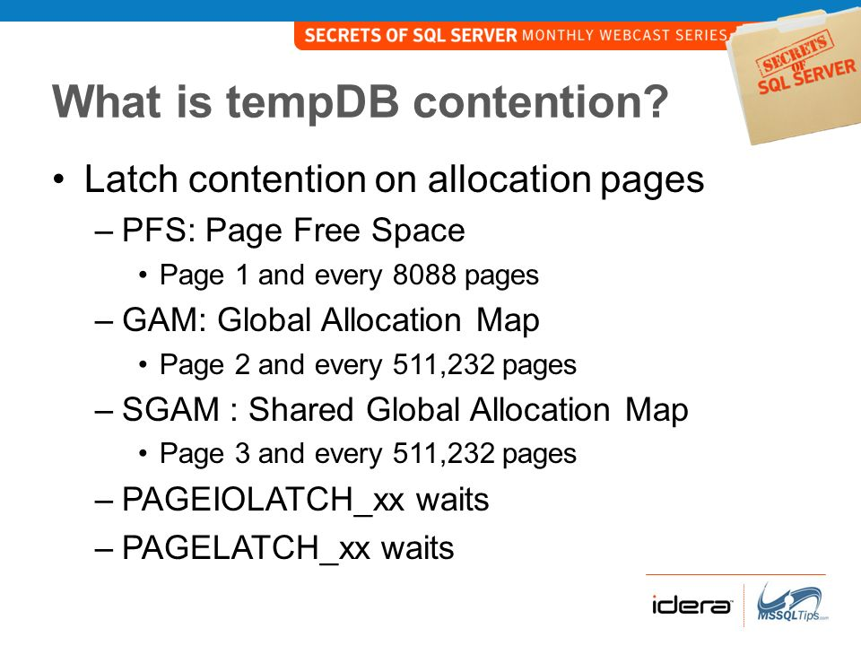 What is tempDB contention