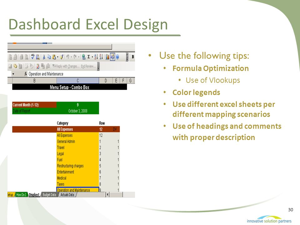 Dashboard Excel Design