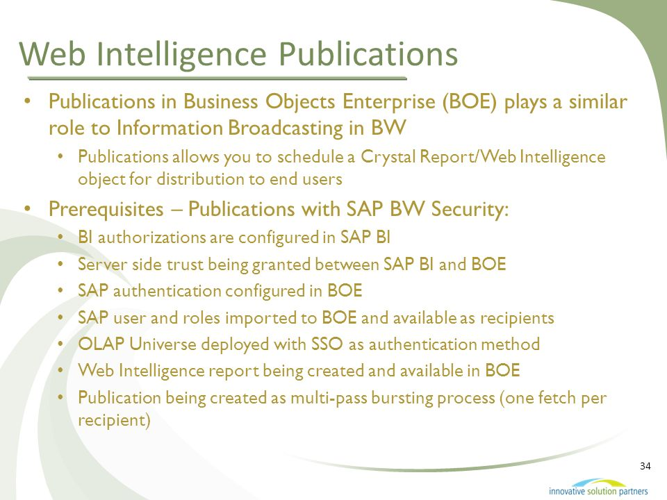 Web Intelligence Publications
