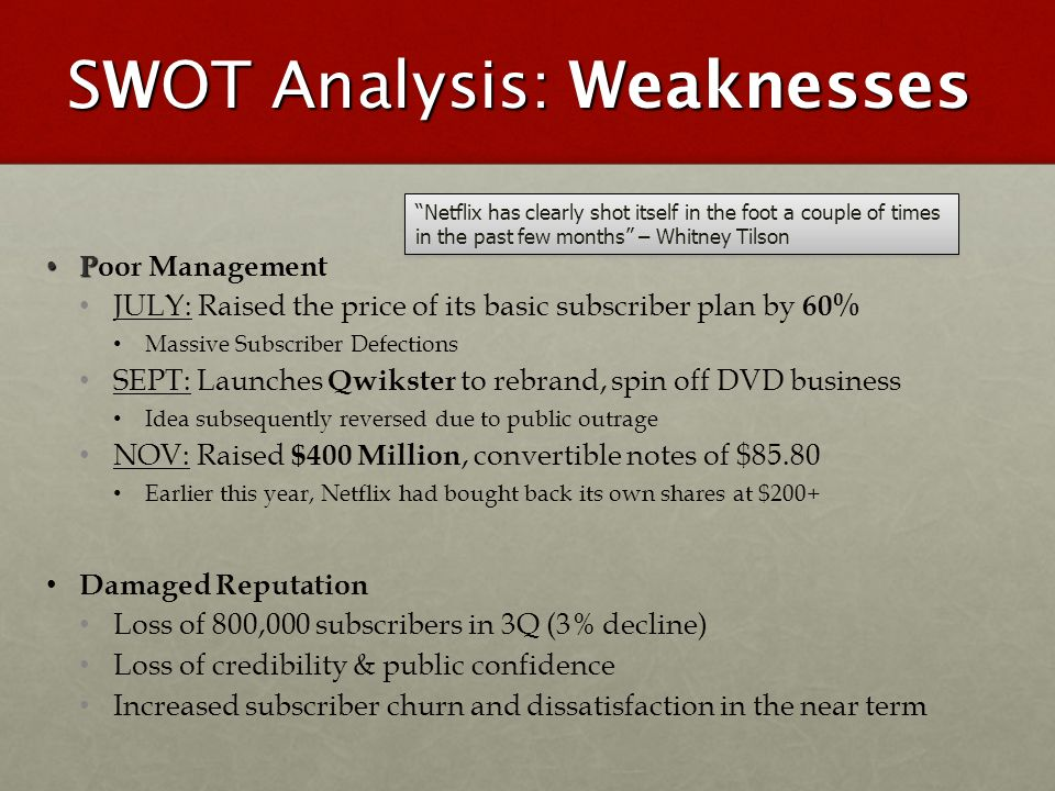 netflex and hulu swot analysis View netflix swot analysis from arbus 302 at university of waterloo netflix swot analysis location of factor/type of factor internal external favourable unfavourable strengths brand recognition.