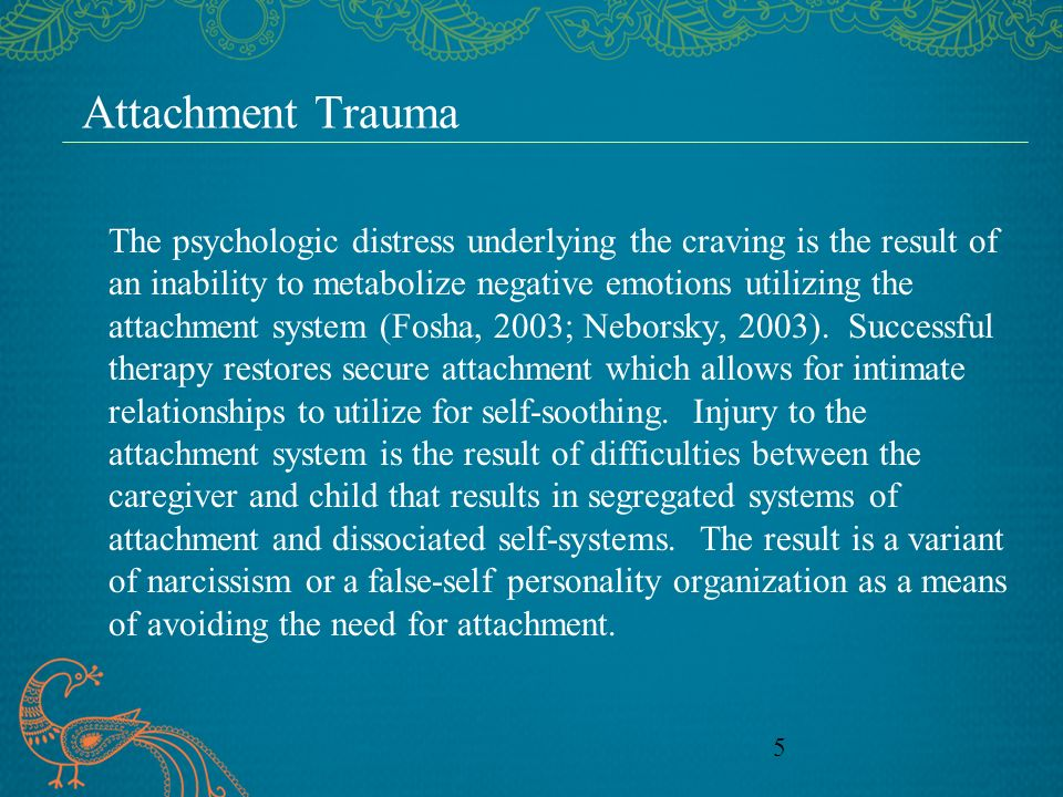 Attachment Trauma