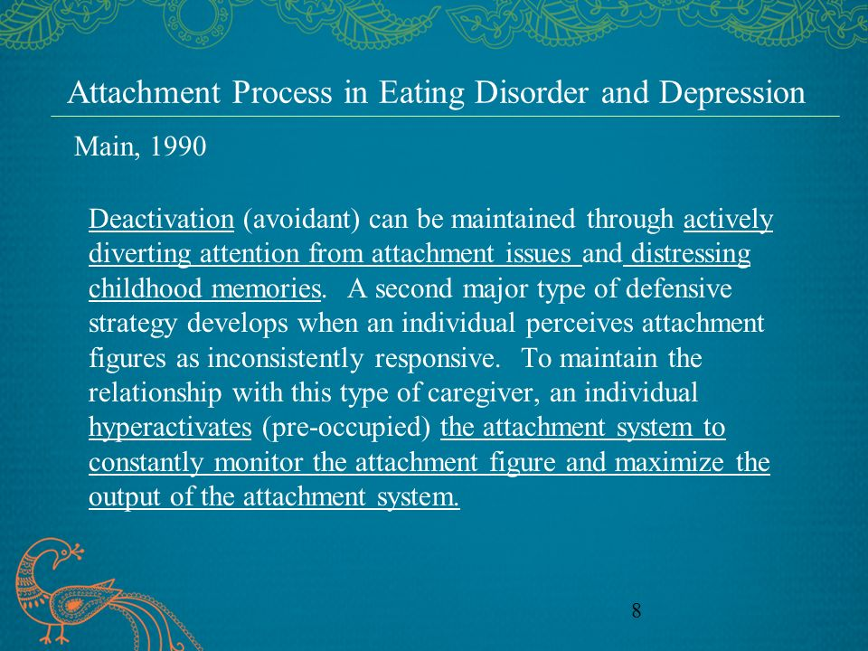 Attachment Process in Eating Disorder and Depression