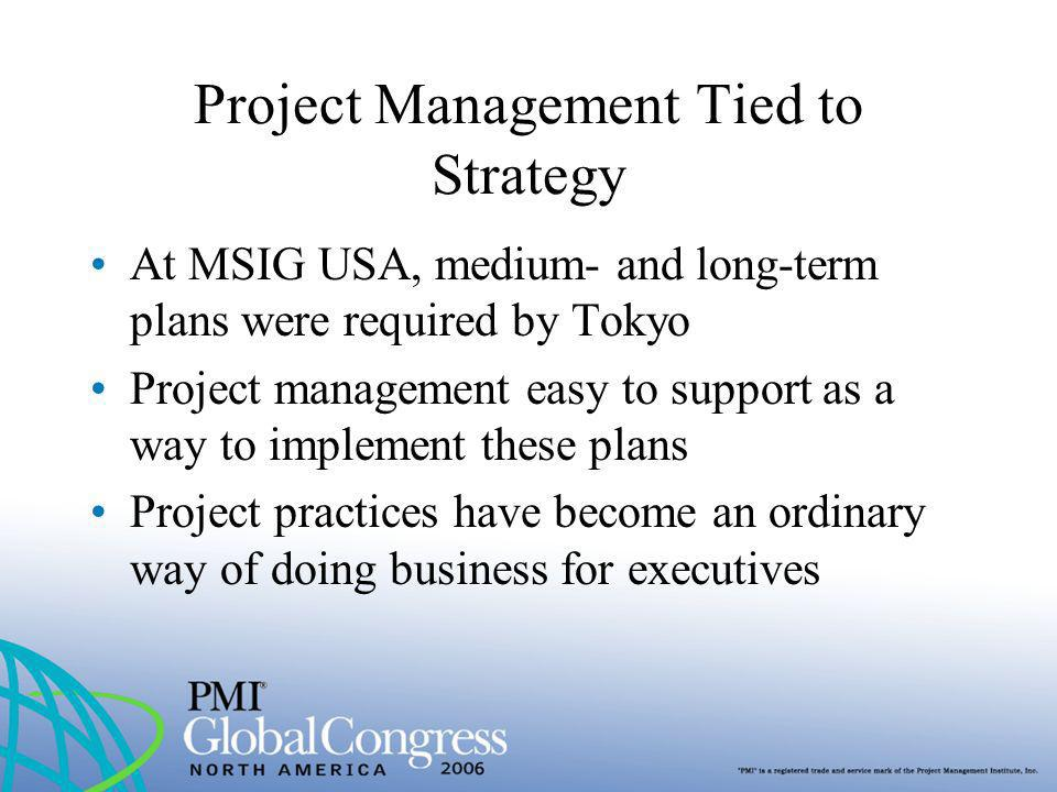 Project Management Tied to Strategy