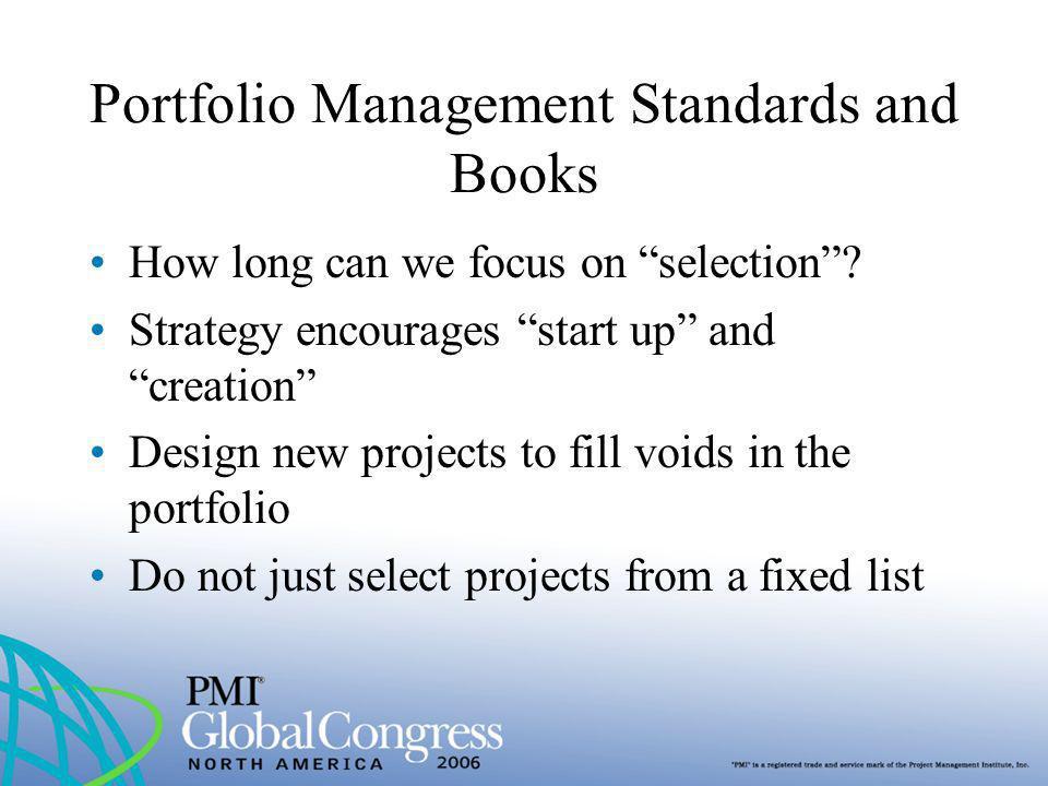 Portfolio Management Standards and Books