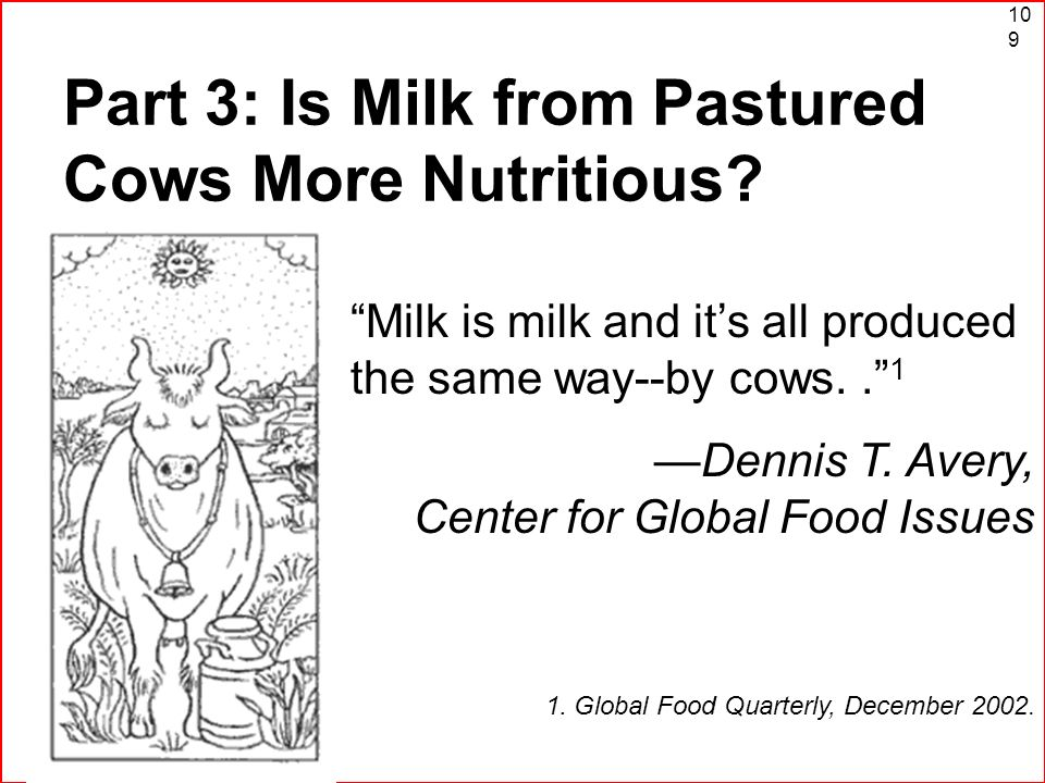 Part 3: Is Milk from Pastured Cows More Nutritious