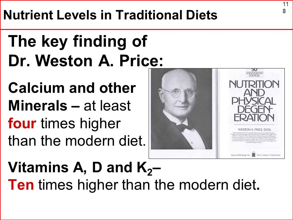 Nutrient Levels in Traditional Diets