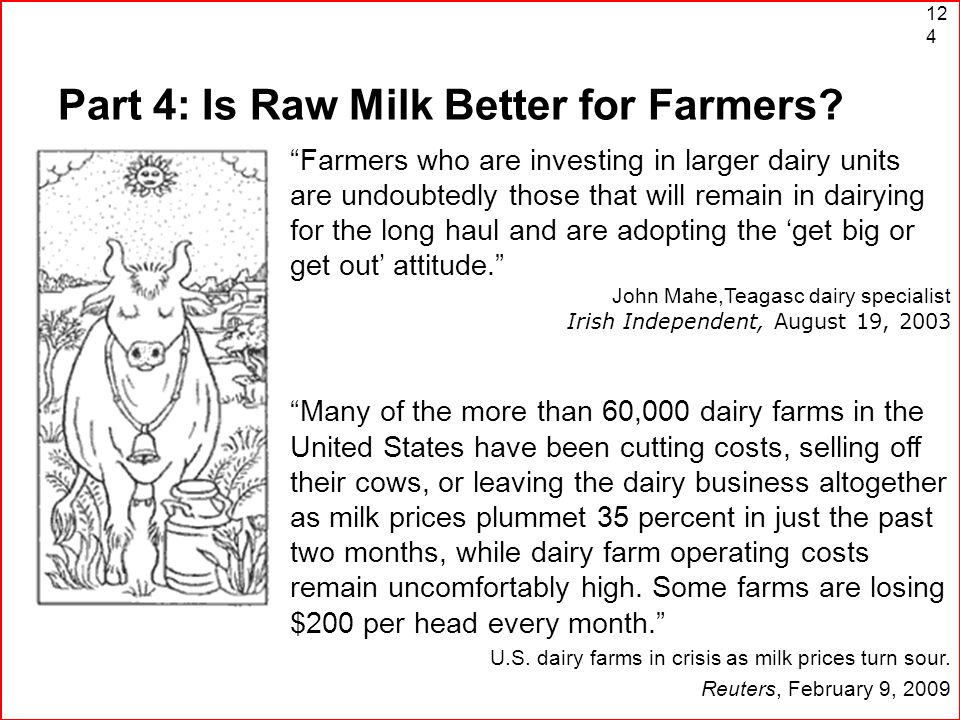 Part 4: Is Raw Milk Better for Farmers