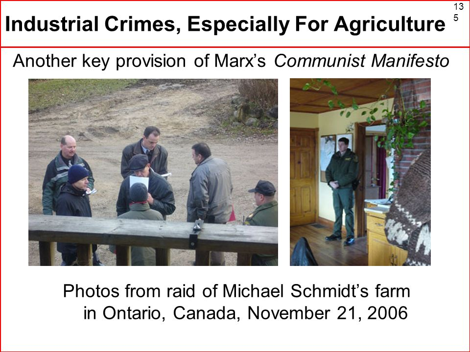 Industrial Crimes, Especially For Agriculture