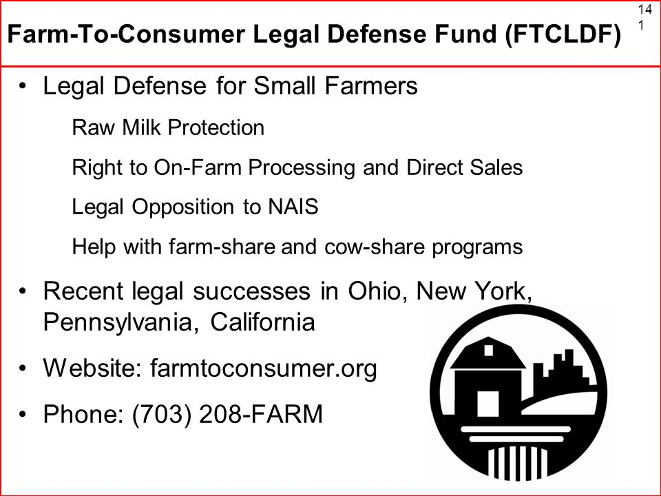 Farm-To-Consumer Legal Defense Fund (FTCLDF)