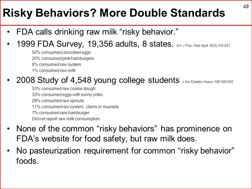 Risky Behaviors More Double Standards