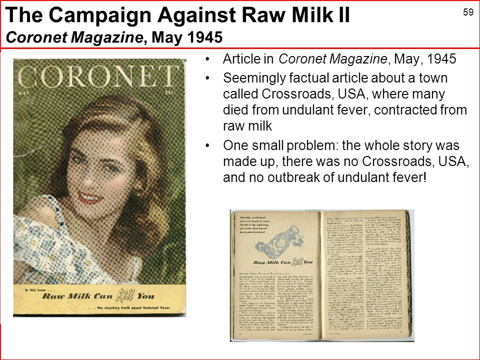 The Campaign Against Raw Milk II Coronet Magazine, May 1945