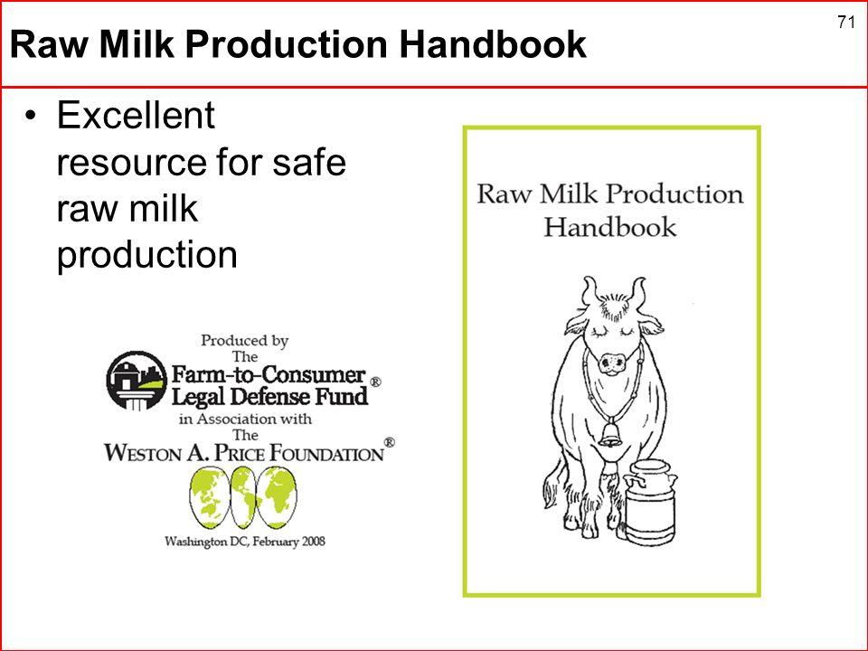 Raw Milk Production Handbook