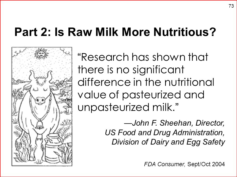 Part 2: Is Raw Milk More Nutritious