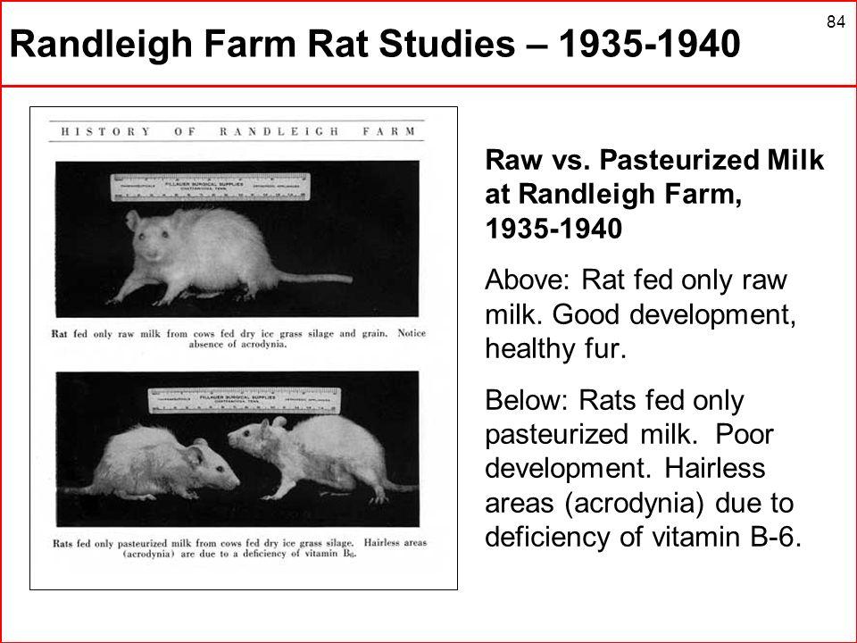 Randleigh Farm Rat Studies – 1935-1940