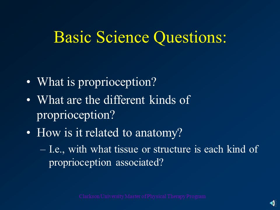 Basic Science Questions:
