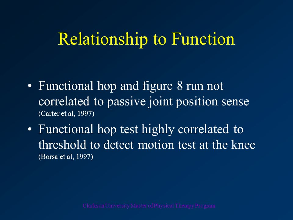 Relationship to Function