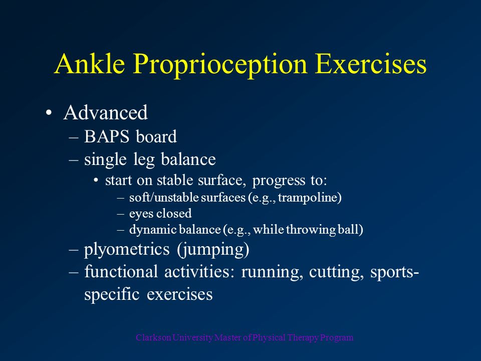Ankle Proprioception Exercises