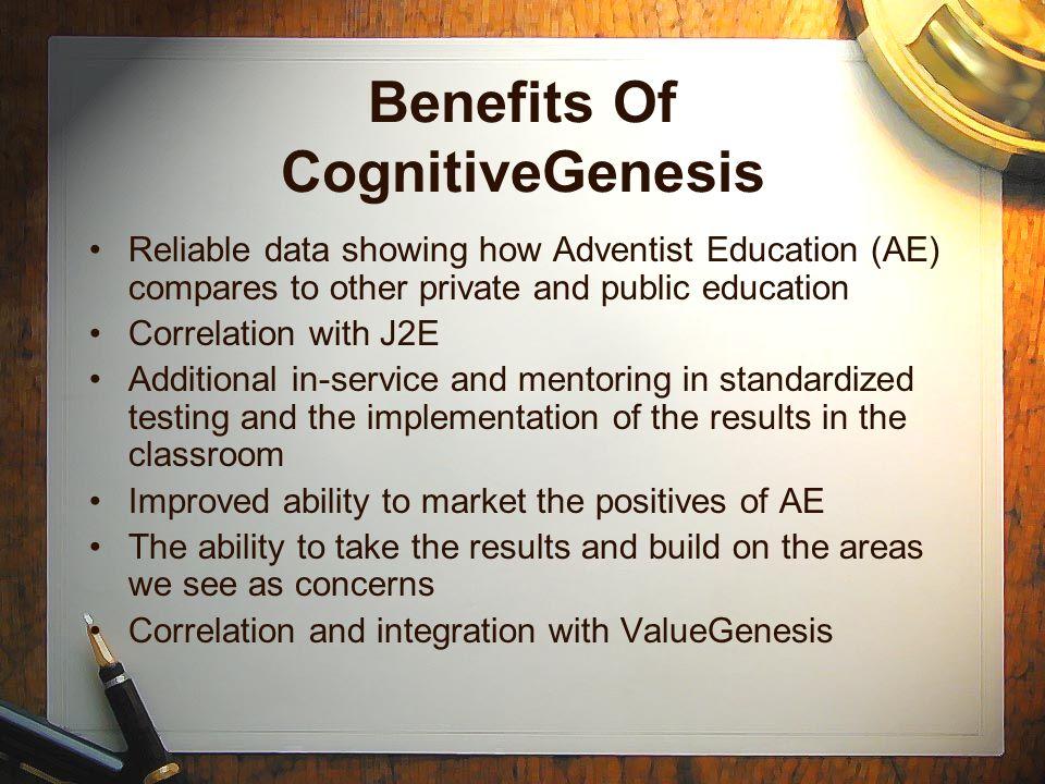 Benefits Of CognitiveGenesis