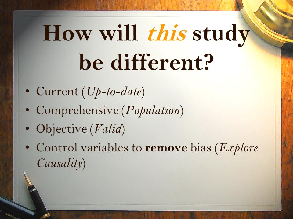 How will this study be different