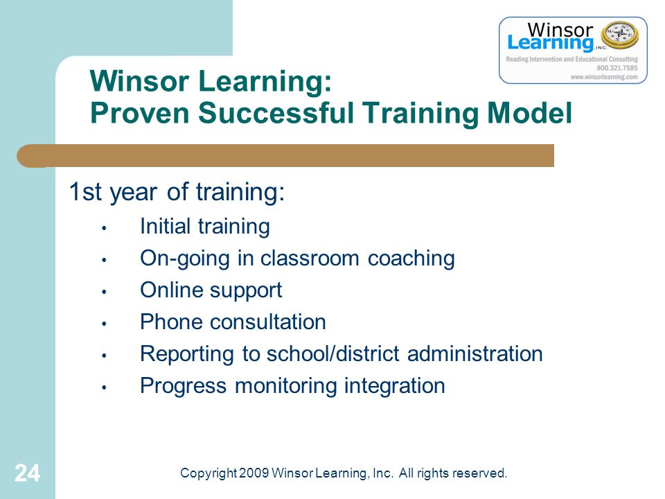Winsor Learning: Proven Successful Training Model