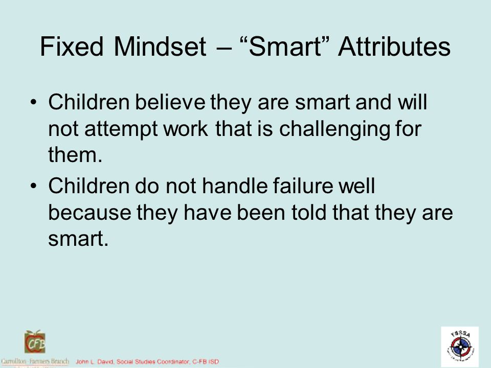 Fixed Mindset – Smart Attributes