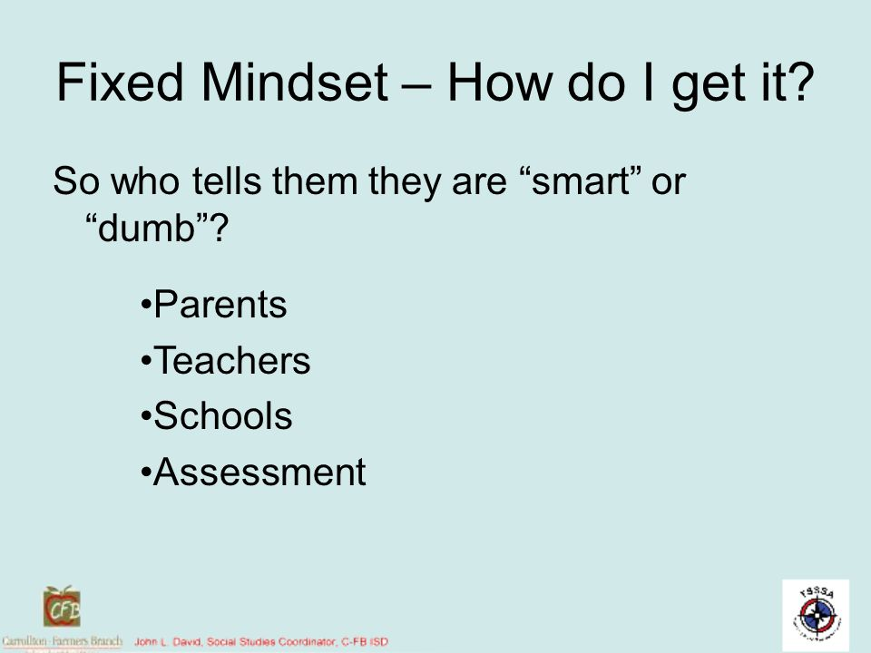 Fixed Mindset – How do I get it