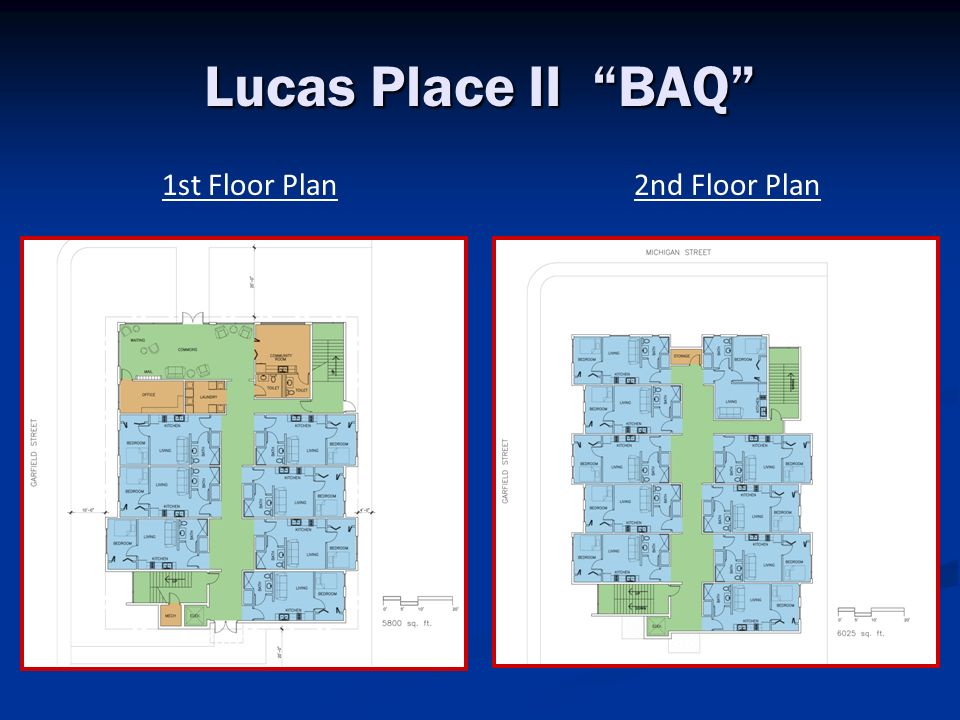 Lucas Place II BAQ 1st Floor Plan 2nd Floor Plan