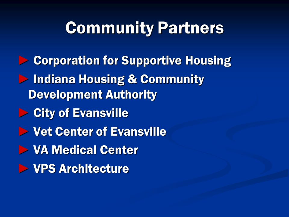Community Partners ► Corporation for Supportive Housing