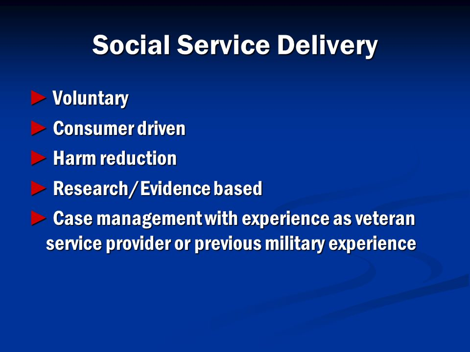 Social Service Delivery