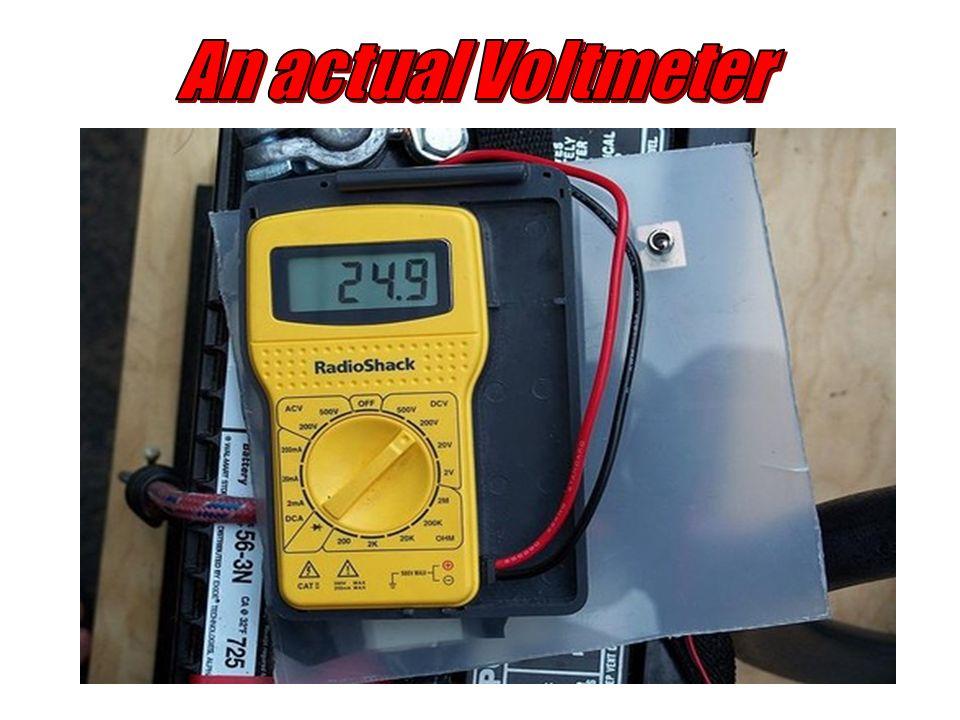 An actual Voltmeter