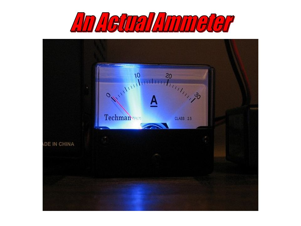 An Actual Ammeter