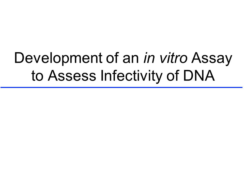 Development of an in vitro Assay to Assess Infectivity of DNA